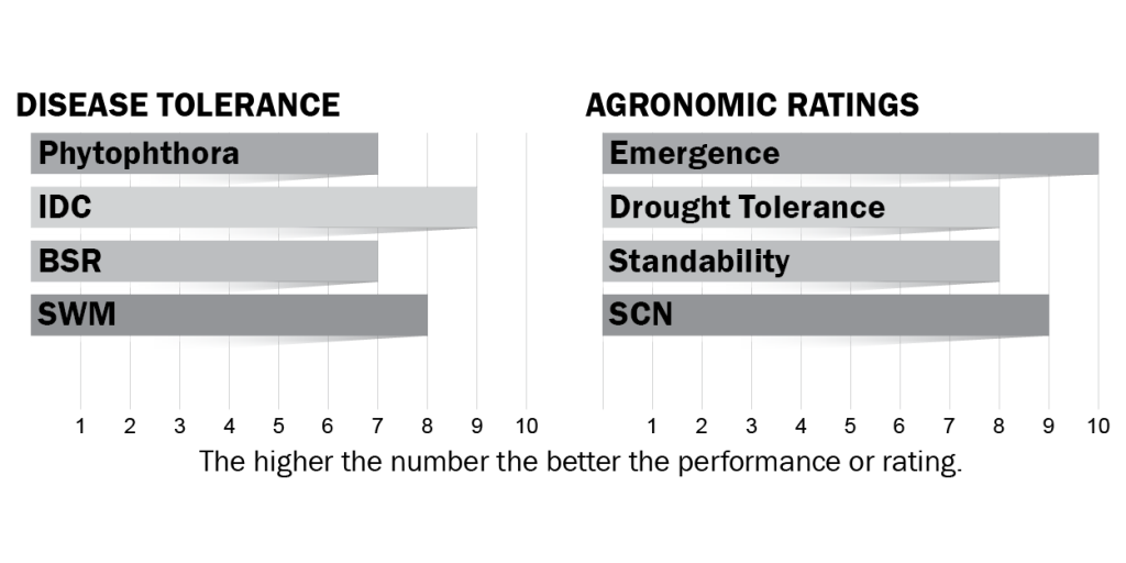 Disease tolerance and agronomic ratings for H13X7
