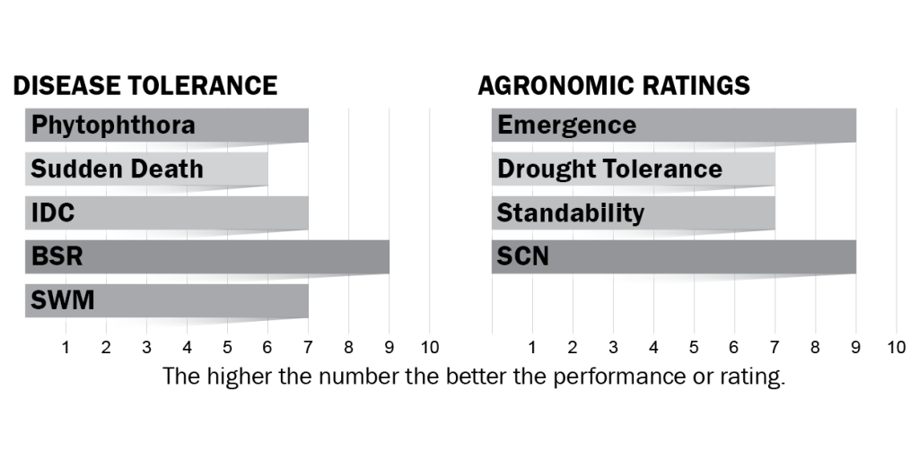 Disease tolerance and agronomic ratings for H14X1