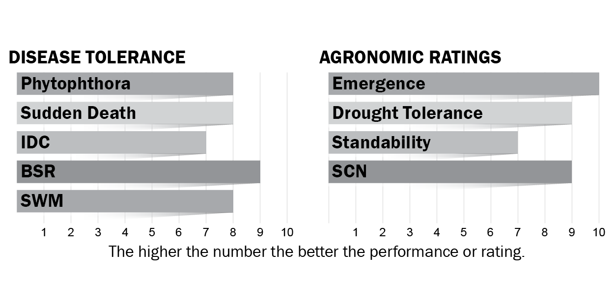 Disease tolerances and agronomic ratings for H16X8
