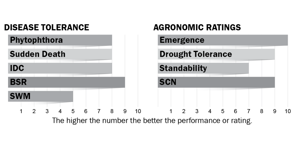 Disease tolerance and agronomic ratings for H20X7