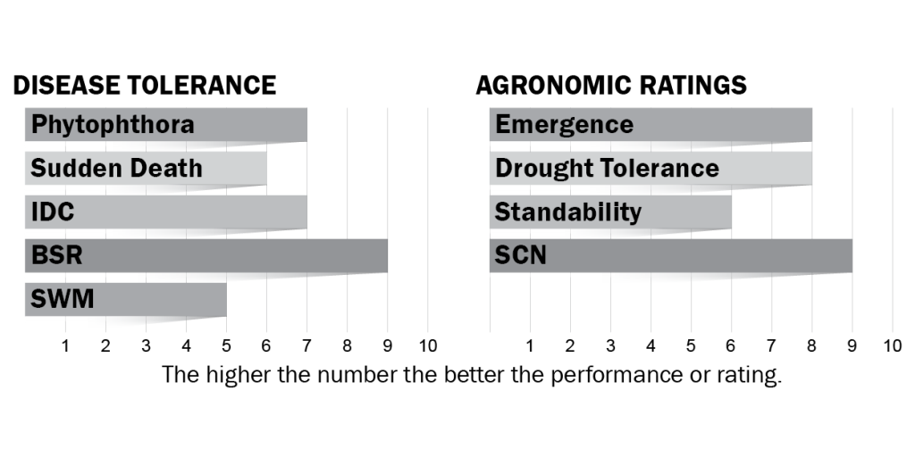 Disease tolerance and agronomic ratings for H24X8