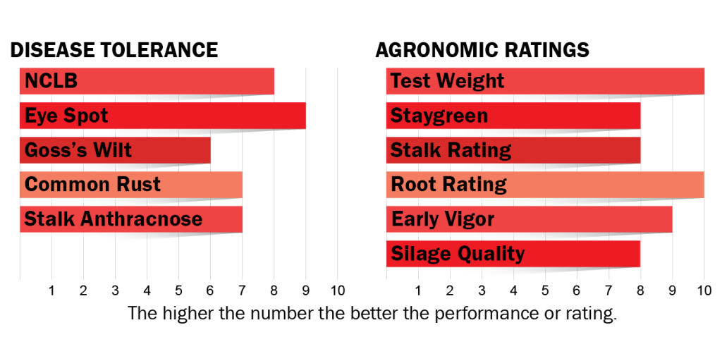 Disease tolerance and agronomic ratings for H2602