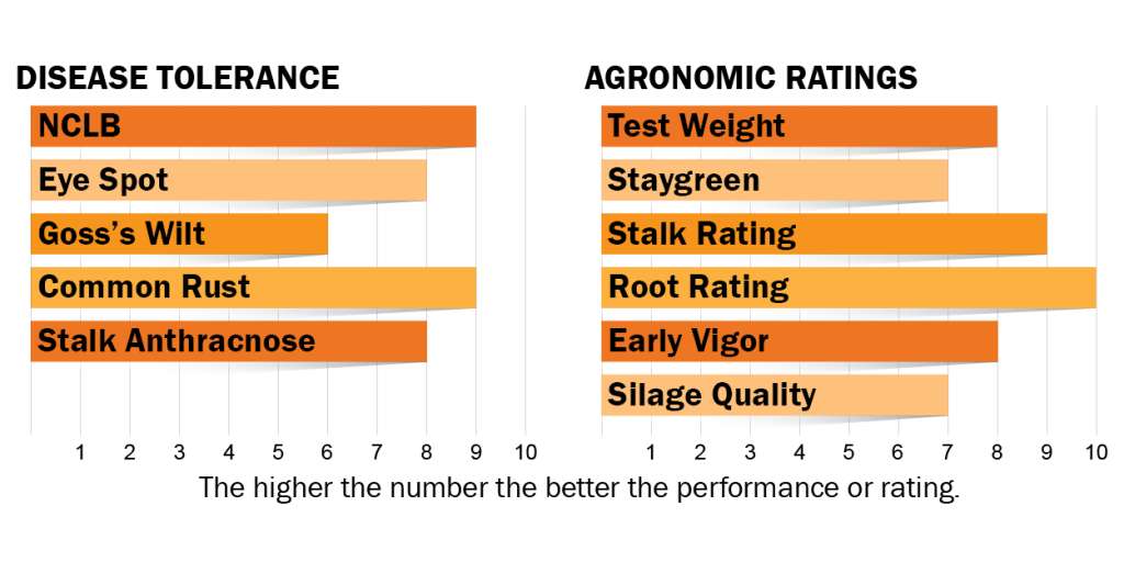 Disease tolerance and agronomic ratings for H2801