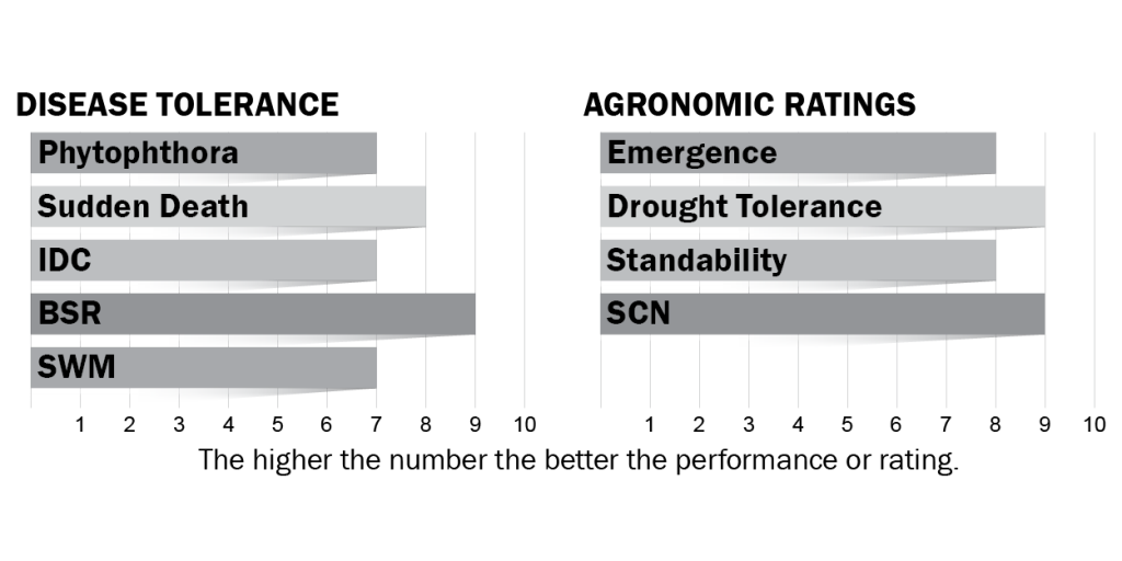 Disease tolerance and agronomic ratings for H28X8