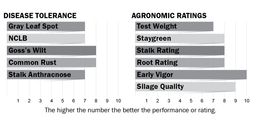 Disease tolerance and agronomic ratings for H4324