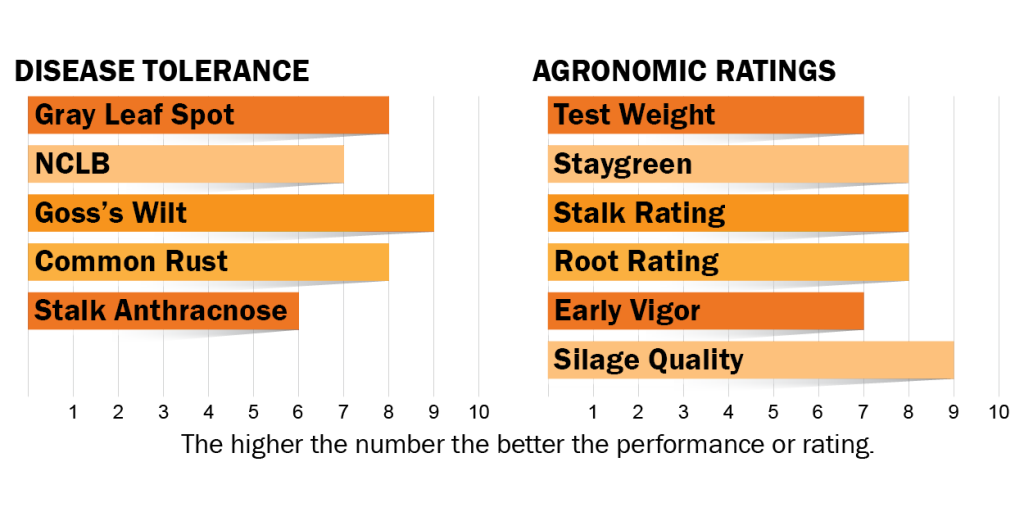 Disease tolerance and agronomic ratings for H4521
