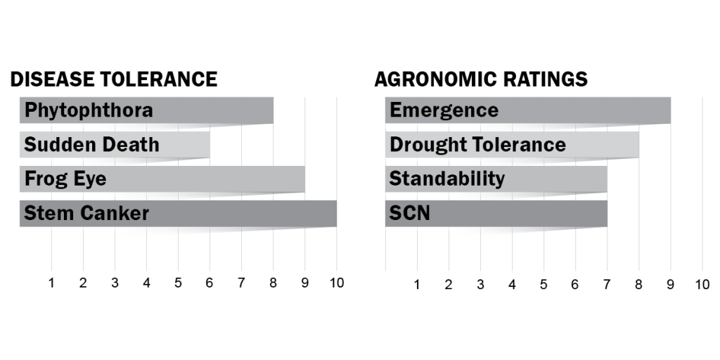 Disease tolerance and agronomic ratings for H46X6
