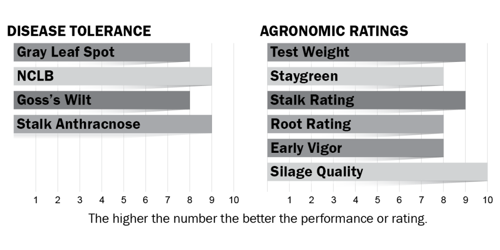 Disease tolerance and agronomic ratings for H4734