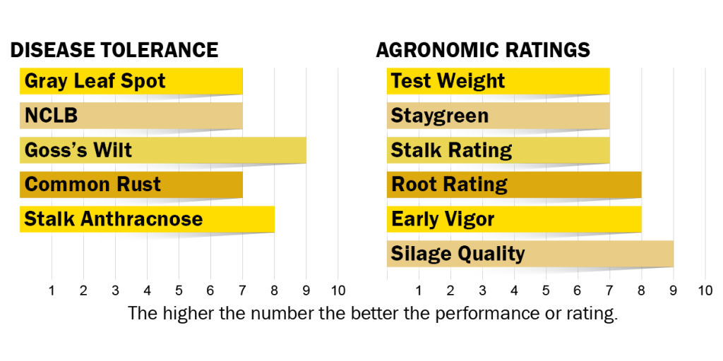 Disease tolerance and agronomic ratings for H5410