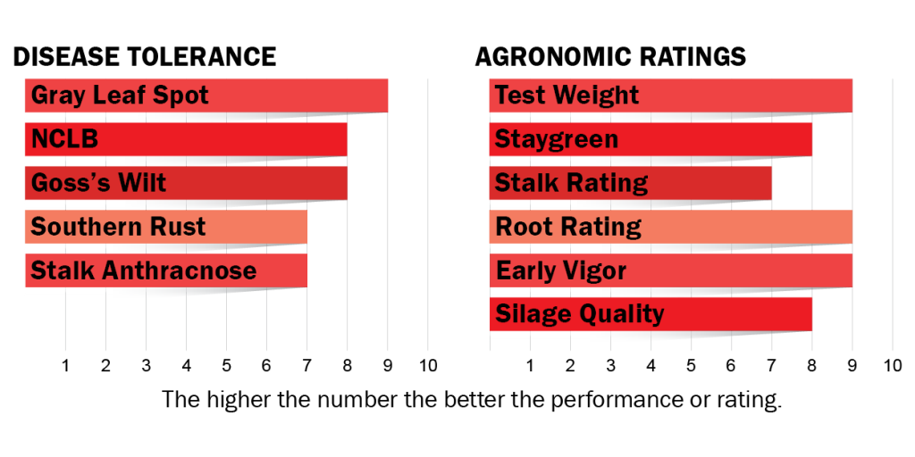 Disease tolerance and agronomic ratings for H5732