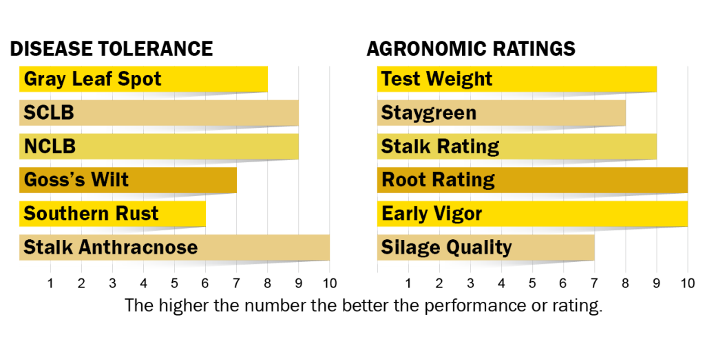 Disease tolerance and agronomic rating for H6130