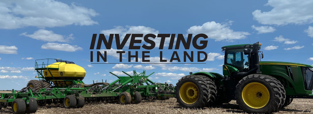 Investing in the Land mobile article header